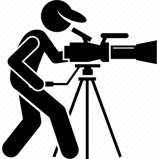 cameraman, film making, filming, filmmaker, footage, professional, videographer icon