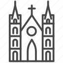 cathedral, catholic, church, landmarks, travel, vietnam icon