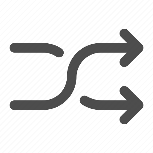 audio, music, player, shuffle icon