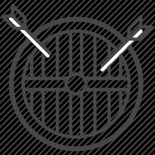arrow, protect, protection, shield, viking, war icon