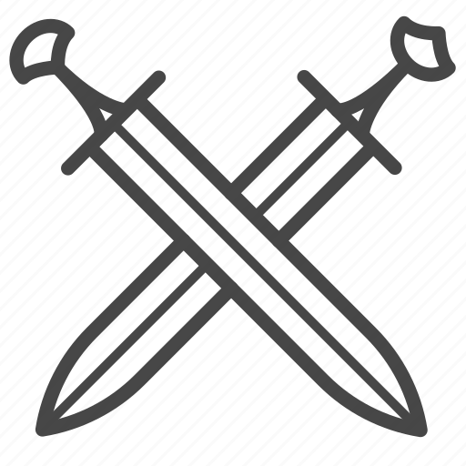 swords, viking, wars, weapons icon