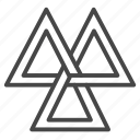 norse, odin, sign, triangles, valknut, viking icon