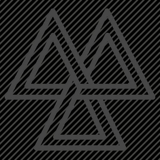 norse, odin, sign, triangles, valknut, viking icon