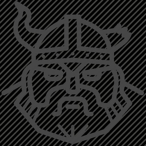 man, nordic, norse, vigor, viking, warrior icon