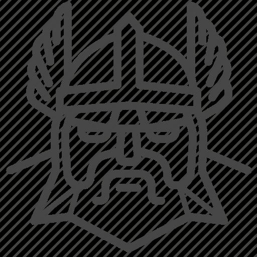 god, man, nordic, norse, odin, thor, viking icon