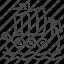 viking, sail, yawl, sea, ship, boat