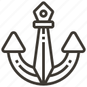 anchor, barbarian, medieval, scandinavian, viking, war, warrior icon