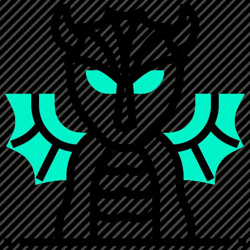 animal, devil, dragon, monster icon