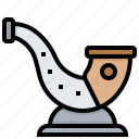 blow, horn, tool, viking icon