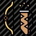 archer, arrow, bow, weapon