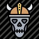 dead, head, monster, skull, viking