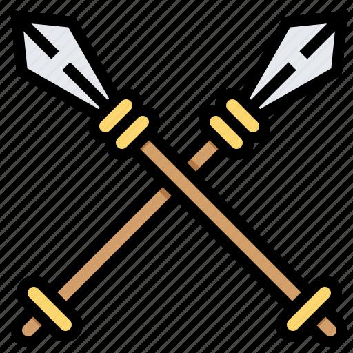 battle, knight, spear, war, weapon icon