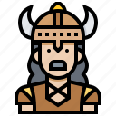 avatar, boss, man, soldier, viking, warrior icon