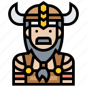 avatar, man, soldier, viking, warrior icon