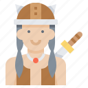 avatar, girl, viking, warrior, woman