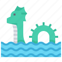 animal, dragon, monster, sea, snake icon