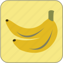 banana, cute, food, fresh, fruit, healthy, minimalistic icon