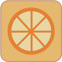 cute, food, fresh, fruit, healthy, minimalistic, orange icon