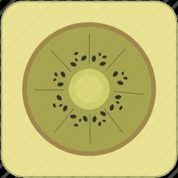 cute, food, fresh, fruit, green, healthy, kiwi icon