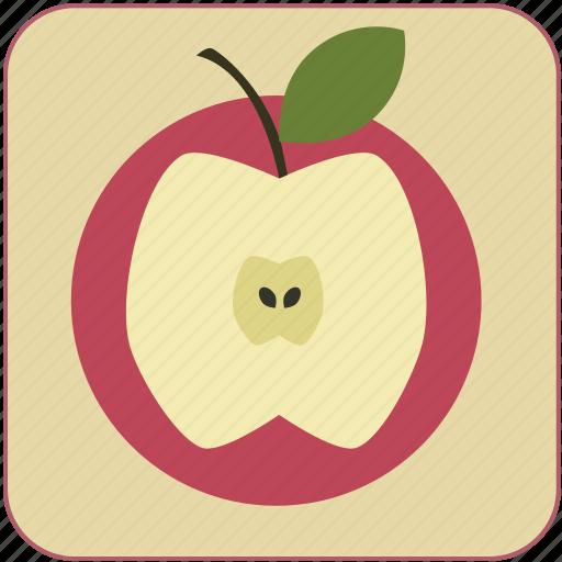apple, cute, food, fresh, fruit, healthy, minimalistic icon