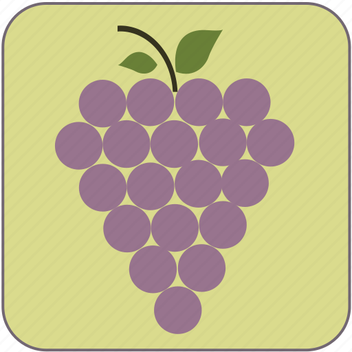 cute, food, fresh, fruit, grapes, healthy, minimalistic icon
