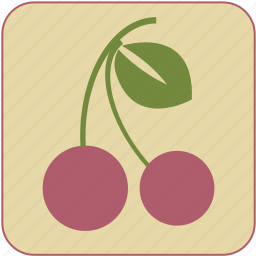 cherry, cute, food, fresh, fruit, healthy, minimalistic icon
