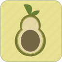 avocado, cute, food, fresh, fruit, green, healthy icon