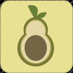 avocado, cute, food, fresh, fruit, green, healthy icon