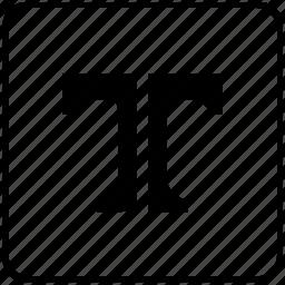 divide, division, format, letter, separate, split, text icon