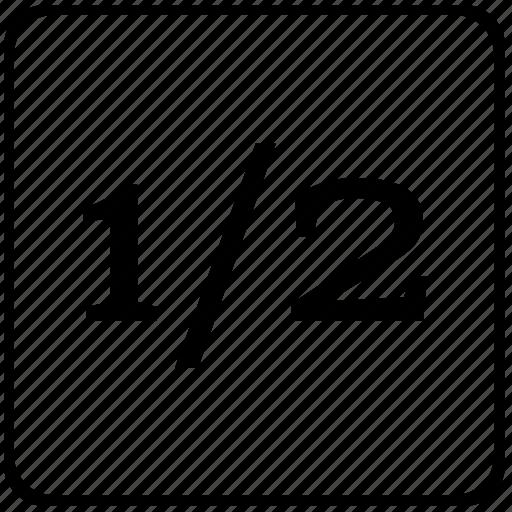 decimal, format, function, half, math, text icon