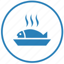diet, eat, fish, food, hot, tape icon