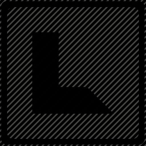 alphabet, english, l, language, latin, letter, uppercase icon
