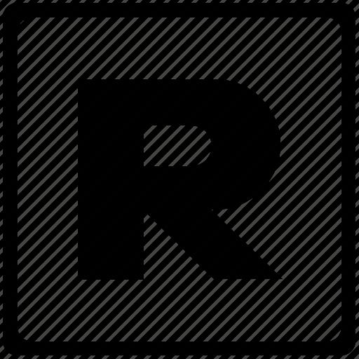 alphabet, english, language, latin, letter, r, uppercase icon