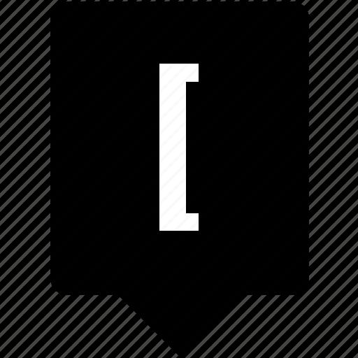 bracket, function, keyboard, left, math, mobile, square icon