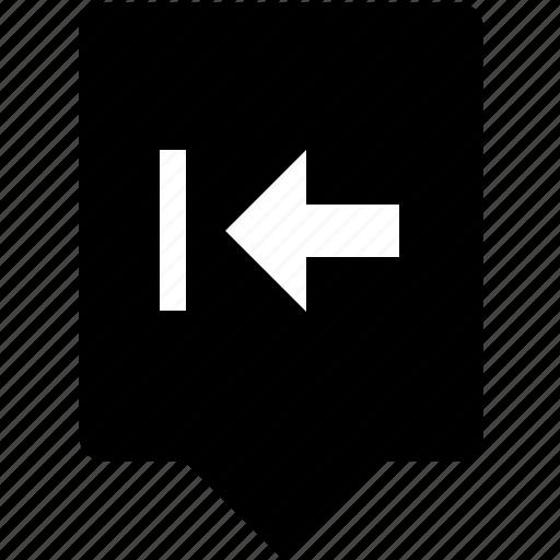 backspace, edit, keyboard, left, mobile, tab, text icon