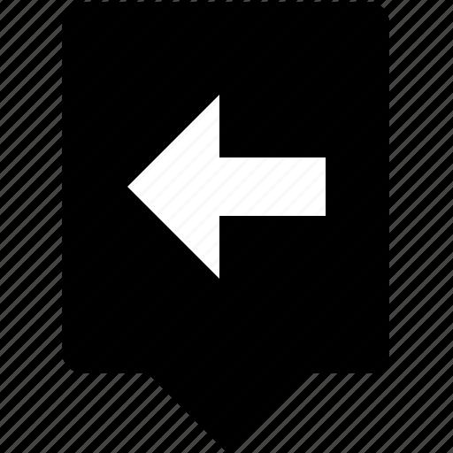 arrow, back, keyboard, left, mobile, navigation, uppercase icon