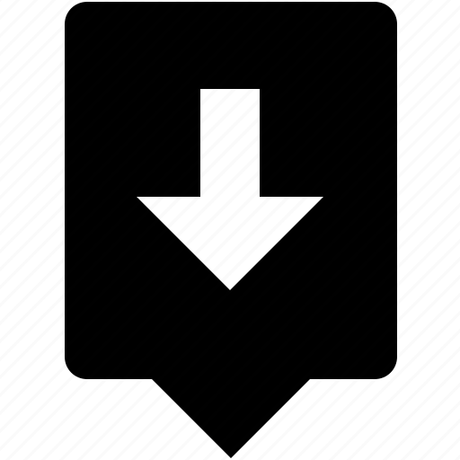 arrow, bottom, down, keyboard, letter, mobile, uppercase icon