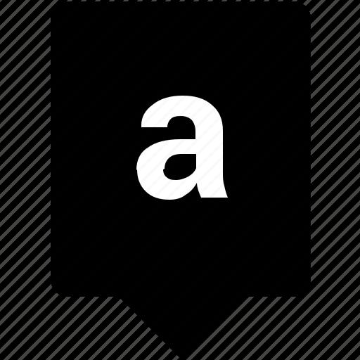 a, english, keyword, letter, lowcase, mobile icon