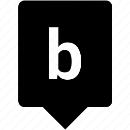 b, english, keyword, letter, lowcase, mobile icon