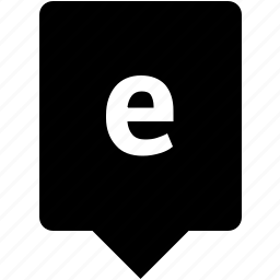 e, english, keyword, letter, lowcase, mobile icon
