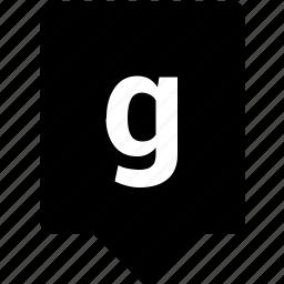 english, g, keyword, letter, lowcase, mobile icon