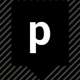 english, keyword, letter, lowcase, mobile, p icon
