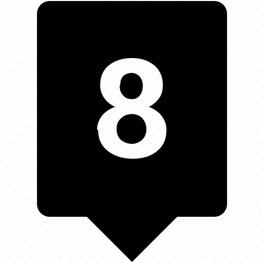 count, eight, keyword, mobile, number icon