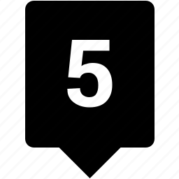 count, five, keyword, mobile, number icon