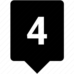 count, four, keyword, mobile, number icon