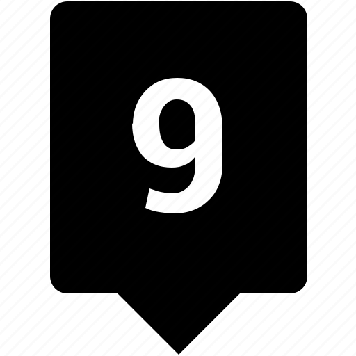 count, keyword, mobile, nine, number icon