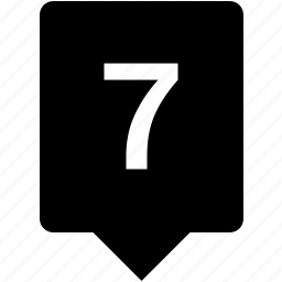 count, keyword, mobile, number, seven icon