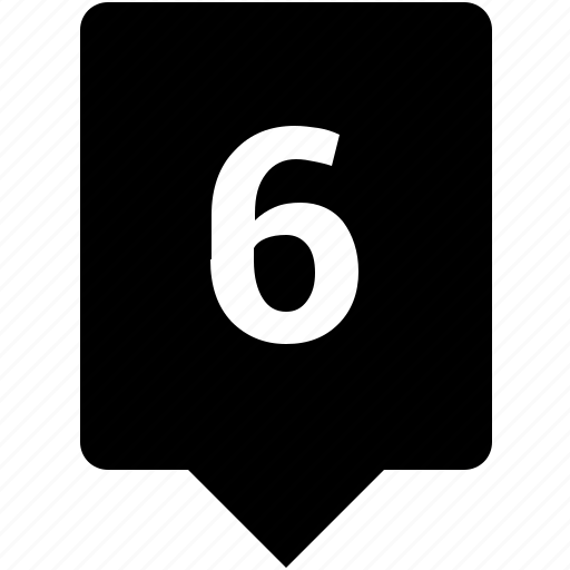 count, keyword, mobile, number, six icon