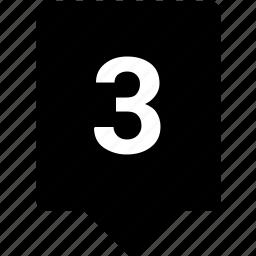 keyword, mobile, number, third, three icon