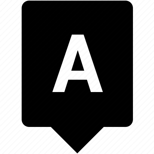 a, english, keyword, letter, mobile, uppercase icon